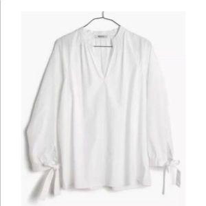 Madewell Tops - 🌸❗️⬇️Madewell Tie-Sleeve Split-neck Popover , NWT